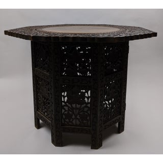 Antique Indian Bombay Blackwood (Rosewood) Profusely Carved Side Table Preview