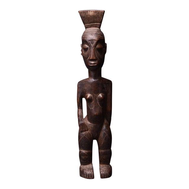 Mangbetu Female Ancestral Sculpture For Sale
