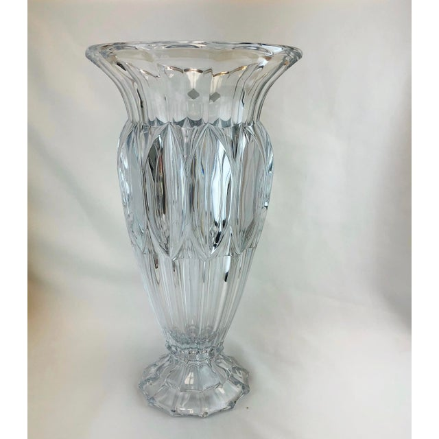 Early 21st Century Shannon Crystal Fluted Vase For Sale - Image 5 of 10