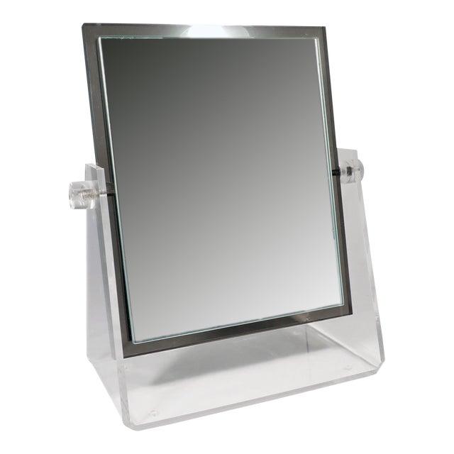 Vintage Lucite Adjustable Tabletop Mirror - Image 1 of 10