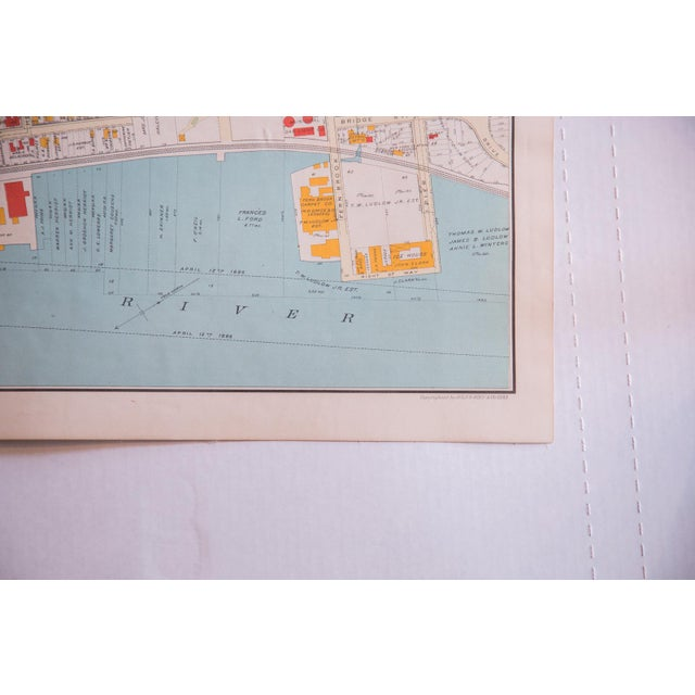 Antique Yonkers City Map For Sale - Image 5 of 5