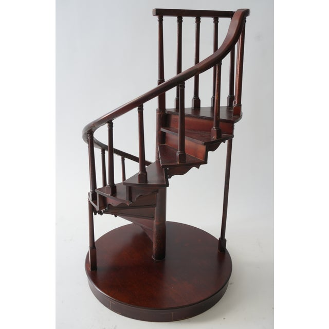 Traditional Vintage Spiral Staircase Architectural Model in Mahogany For Sale - Image 3 of 9