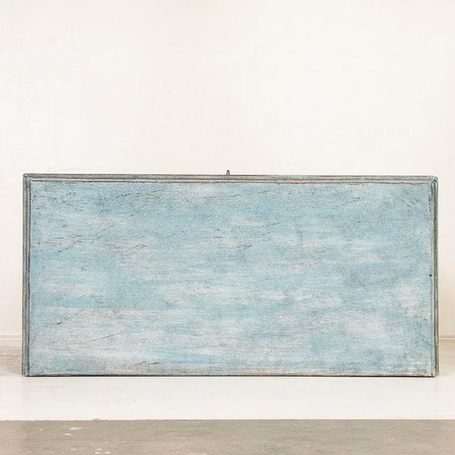Large Antique Blue Painted Chest of Drawers From Sweden For Sale - Image 11 of 13