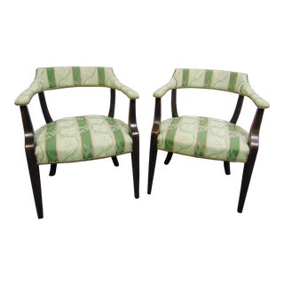 Hickory Chair Co Hepplewhite Style Library Chairs - a Pair For Sale