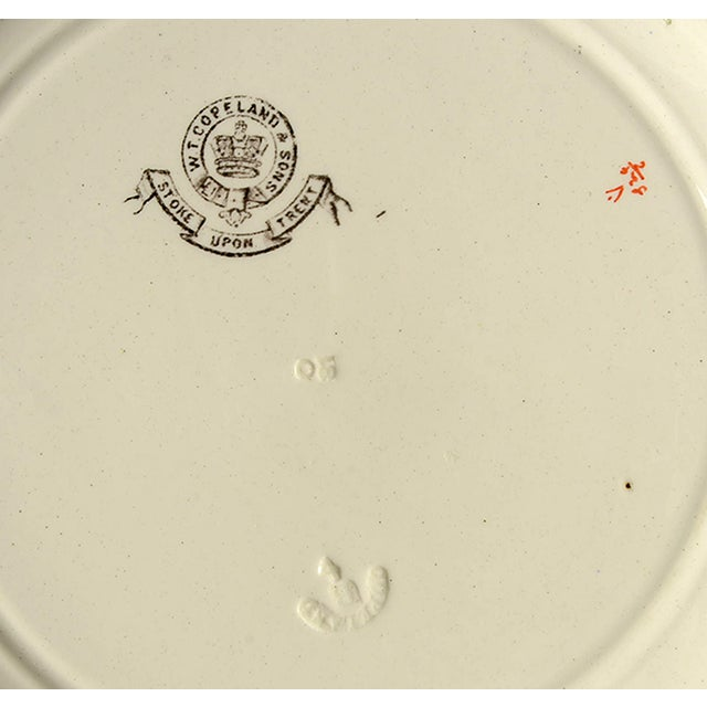 Ceramic Spode Canton Dinner Plate - Set of 8 For Sale - Image 7 of 9