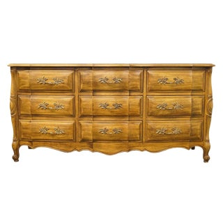 Thomasville Furniture Fleur De France Collection Triple Dresser For Sale