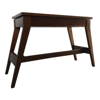 Vintage Mid Century Modern Foyer Table With Storage. For Sale