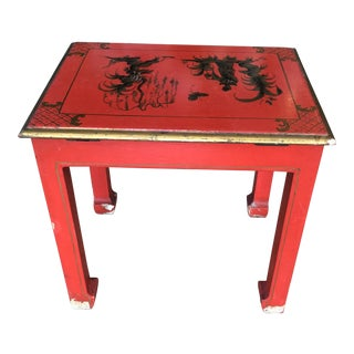 1970s Chinoiserie Side Table With Storage For Sale
