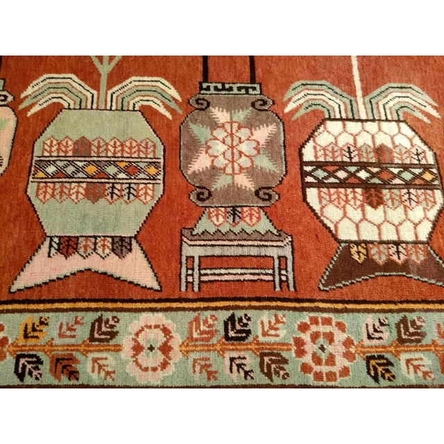 1940s Vintage Khotan Vase Carpet - 5′ × 8′ For Sale - Image 5 of 13