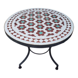 Multi-Color Moroccan Mosaic Table For Sale
