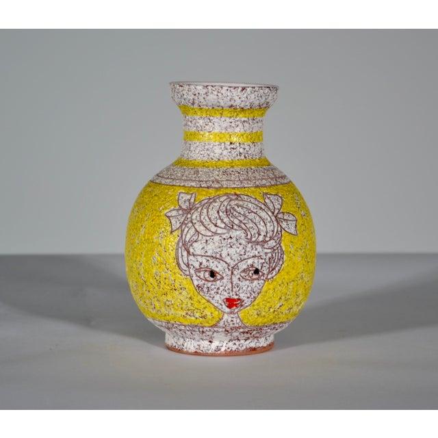 "Double Portrait Vase Fratelli Fanciullacci Italy Ceramic c.1960s Appx. 5.5"" H Marked Italy to bottom Ceramiche Capraia was..."