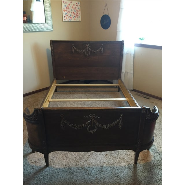 Sligh Vintage Sleigh Full Bed Frame - Image 11 of 11