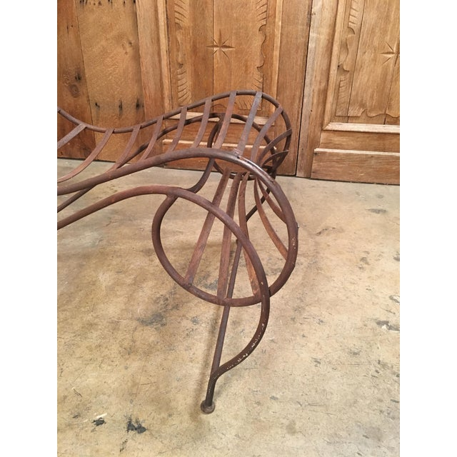 Metal Vintage Mid Century Andre Dubreuil Style Iron Spine Chair For Sale - Image 7 of 11