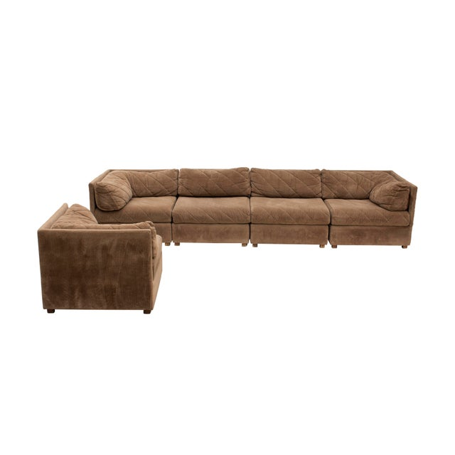 Mid-Century Modern Modular Sectional Sofa by Selig, 5 Pieces For Sale - Image 3 of 13