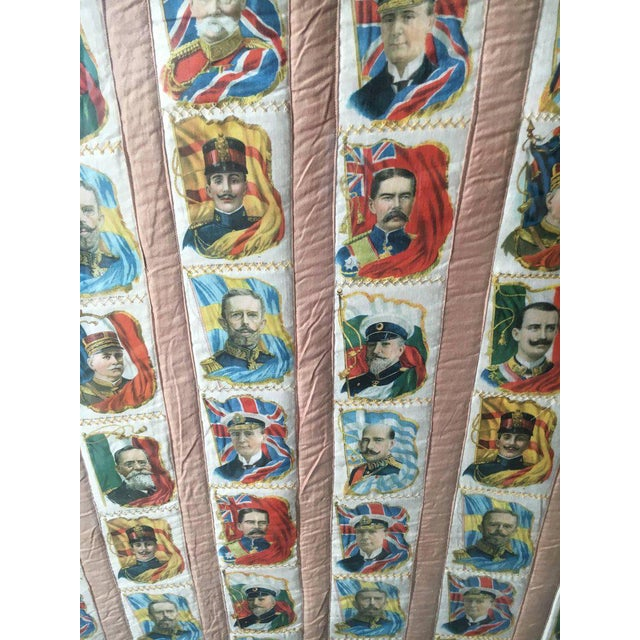 Traditional Imperial Tobacco Company of Canada Silk Trading Cards Quilt Mounted on Canvas For Sale - Image 3 of 6