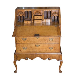 Late 19th Century Vintage American Tiger Maple Queen Anne Child's Desk Preview