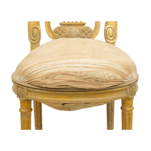 French Louis XVI Lyre Side Chairs For Sale - Image 4 of 11