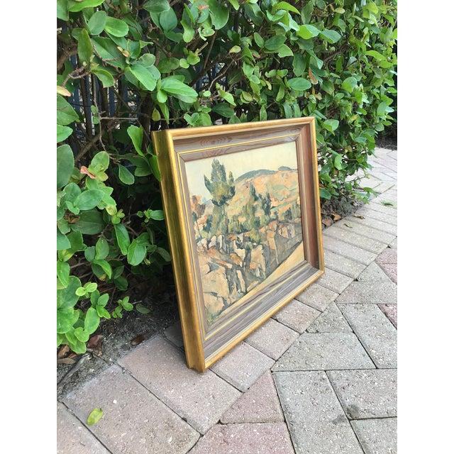 Vintage Italian Landscape Scene Print, Framed For Sale In West Palm - Image 6 of 9