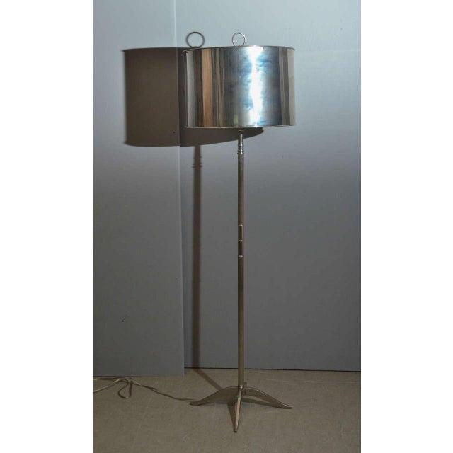 Sleek Modern Nickel Floor Lamp - Image 2 of 6