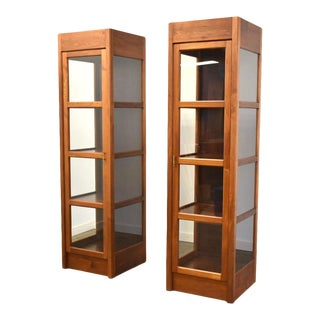 One Walnut & Rosewood Bookcase Display Cabinet For Sale