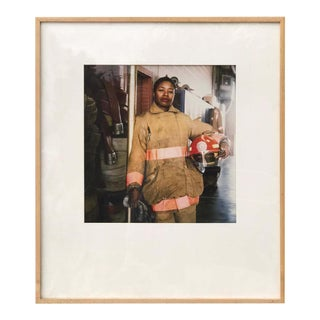 First Female Firefighter Kathy E. Morris by Photograph Jeffrey Henson Scales For Sale