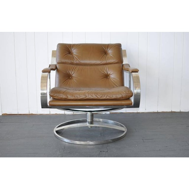 Gardner Leaver for Steelcase Leather Lounge Chair For Sale In Boston - Image 6 of 7