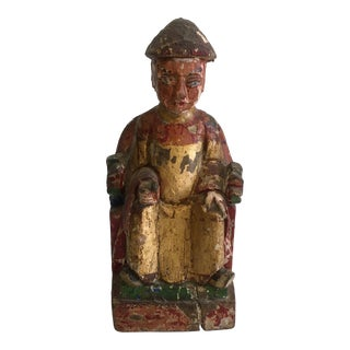 20th Century Chinese Emperor Statue For Sale