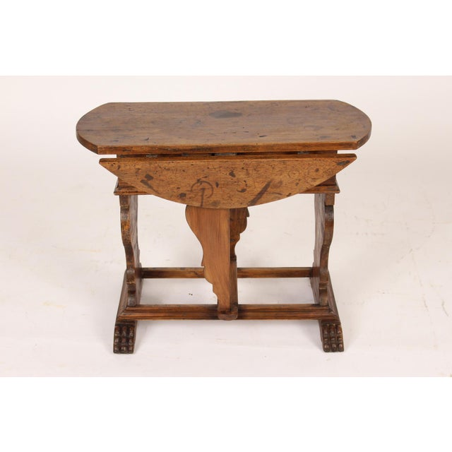 Baroque Style Drop Leaf Side Table For Sale - Image 4 of 12