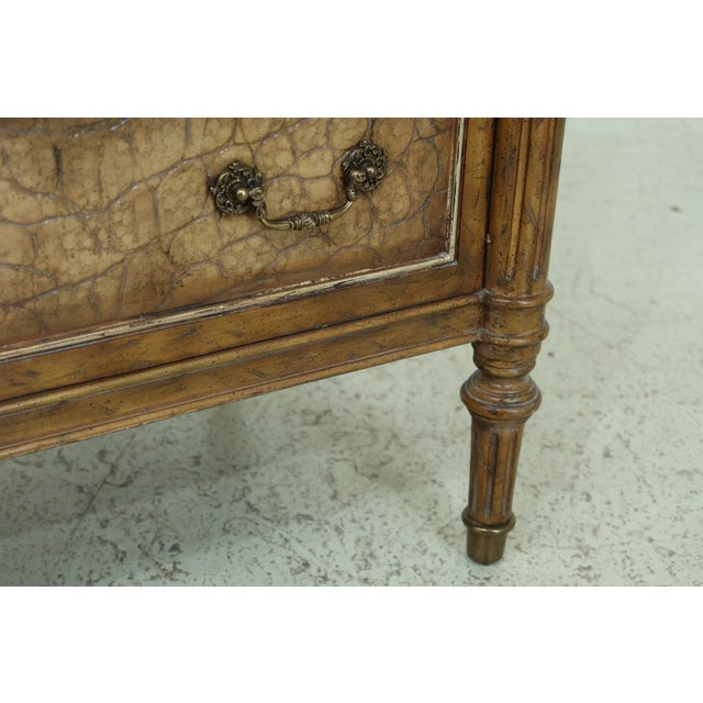 2010s Maitland Smith Regency Style Leather Wrapped Chest Dresser For Sale - Image 5 of 12