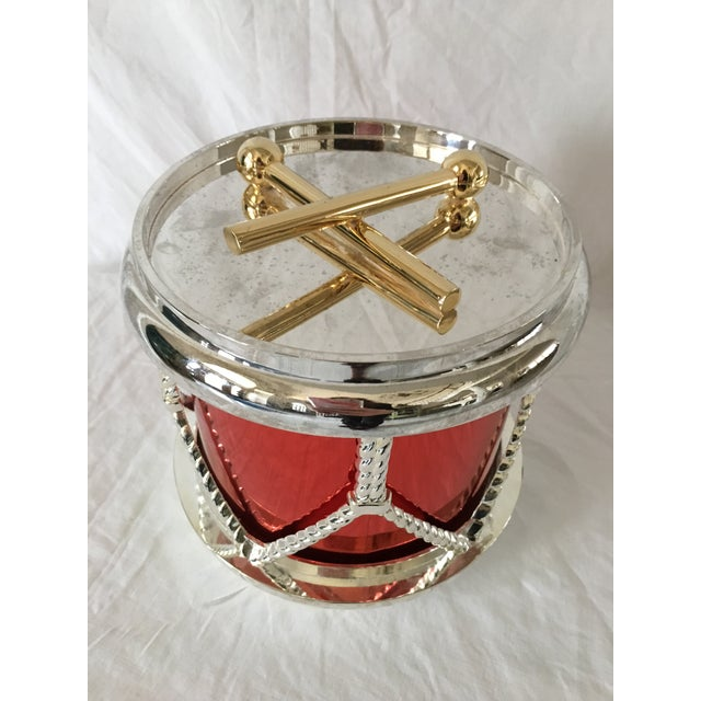 Godinger Silverplate Drum Ice Bucket For Sale - Image 5 of 6
