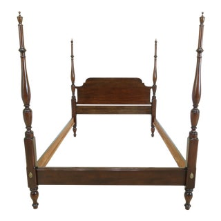 Henkel Harris Full Size Mahogany Fairfax Poster Bed For Sale