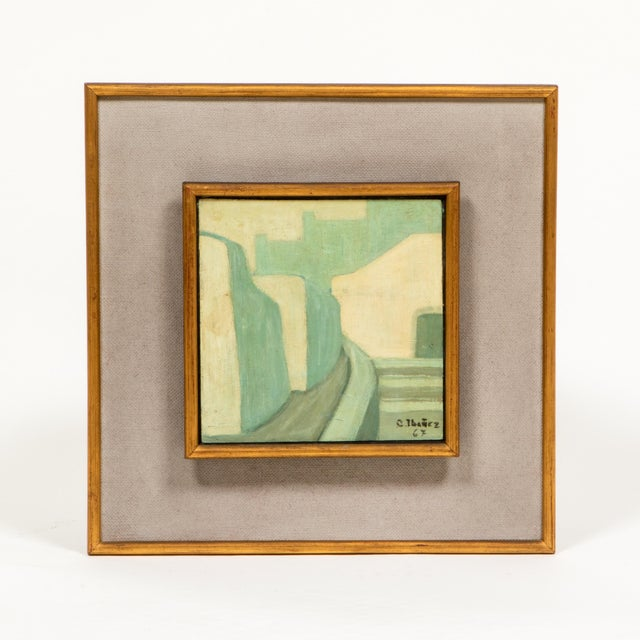 Concha Ibanez 1967 Concha Ibanez Original Oil Painting For Sale - Image 4 of 4