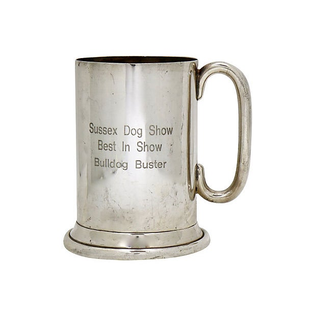 Cottage English Bulldog Show Trophy Tankard For Sale - Image 3 of 3