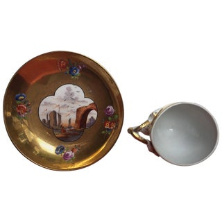 18th Century Meissen Porcelain Cup & Saucer For Sale
