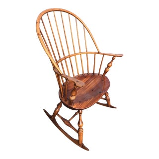 Classic Windsor Style Rocking Chair For Sale