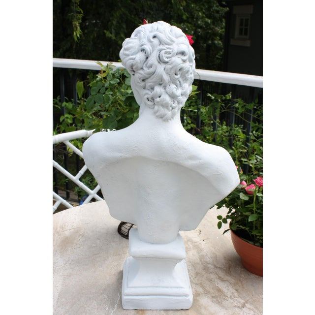 Boho Chic Large Scale Bust of David For Sale - Image 3 of 13