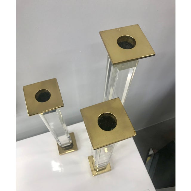 1970s Charles Hollis Jones Candle Holders - Set of 3 For Sale - Image 5 of 8
