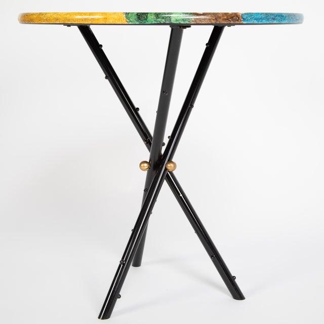 """Piero Fornasetti """"Città DI Carte"""" Side Tables, Circa 1950s - a Pair For Sale - Image 11 of 13"""