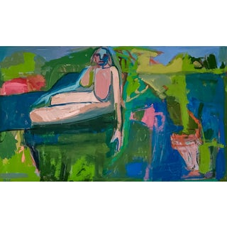 """""""Sunday in the Park"""" Contemporary Figurative Nude Oil Painting by Rebecca Jack For Sale"""