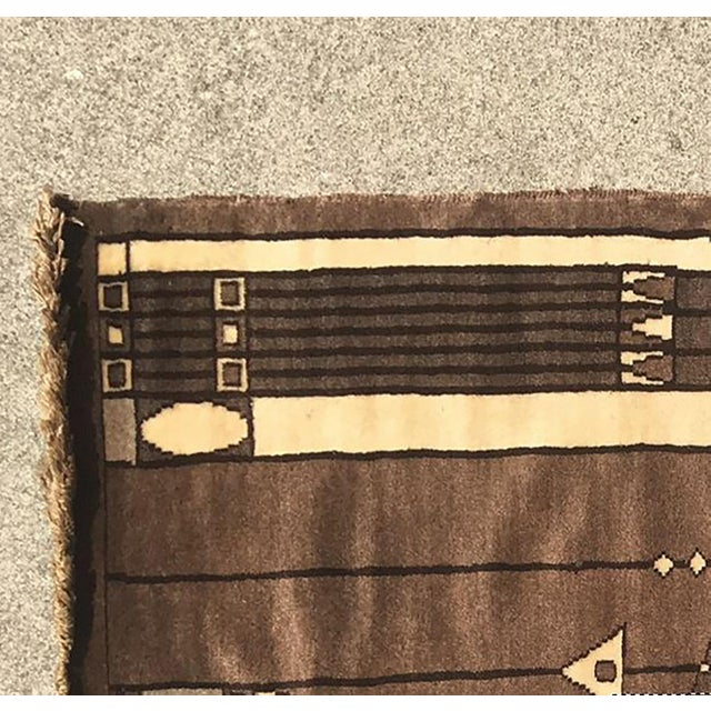 20th Century Peking Style Gaba Brown Rug 3x4 For Sale - Image 4 of 5