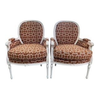 Kelly Wearstler Fabric French Side Chairs