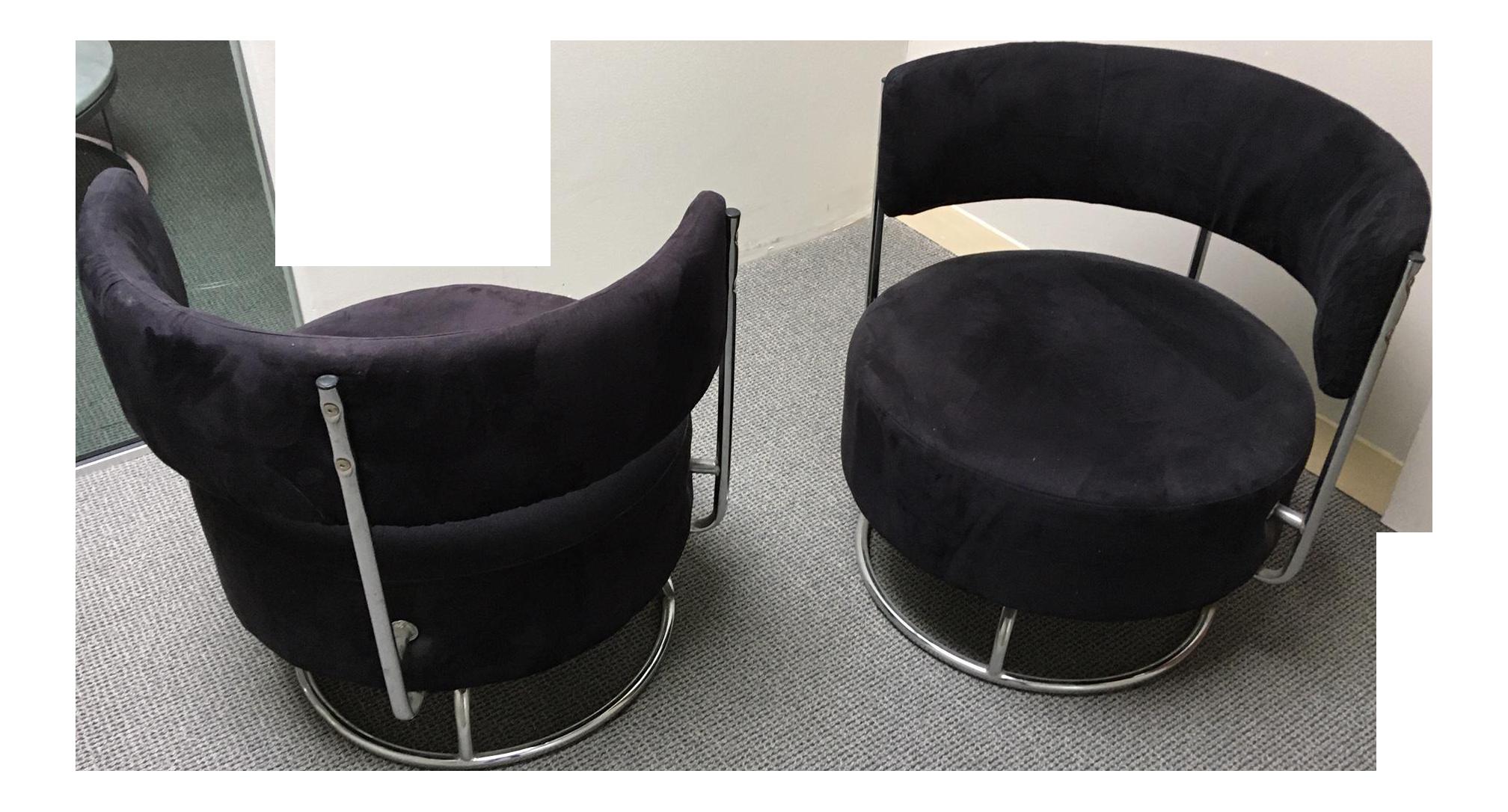 Art Deco Swivel Chairs A Pair