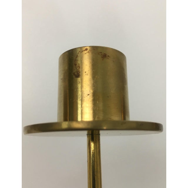 Mid-Century Modern Style 4-Arm Brass Candelabra For Sale - Image 10 of 12