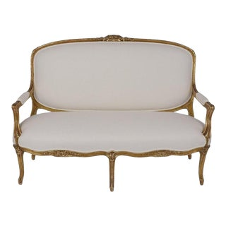 Traditional 19th Century Gilt French Louis XV Style Sofa For Sale