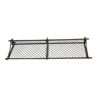 Early 20th C. Antique American Train Luggage Rack For Sale