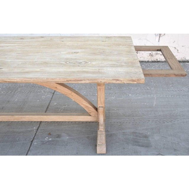 Ken Petersen Petersen Antiques Heart Pine Expandable Farm Table For Sale - Image 4 of 11