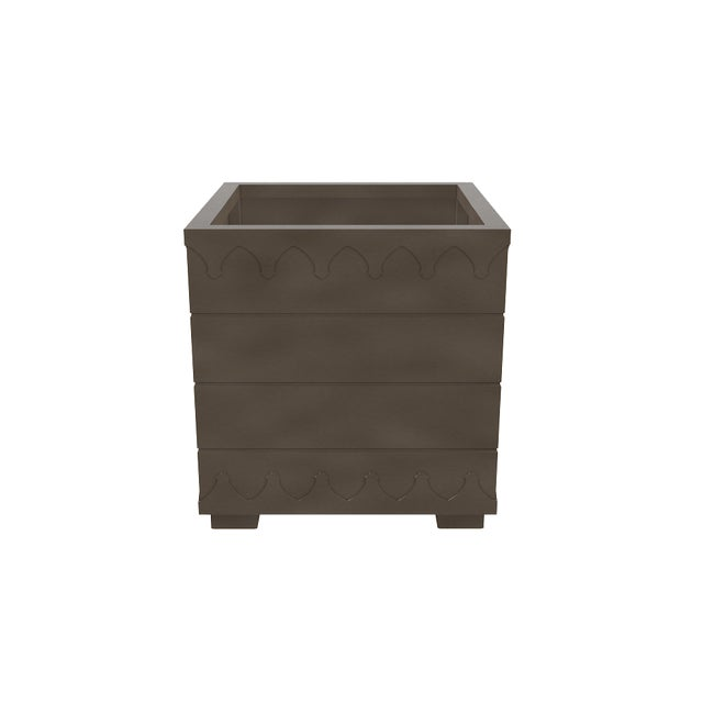 Not Yet Made - Made To Order Oomph Ocean Drive Outdoor Planter Large, Dark Gray For Sale - Image 5 of 6