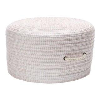 Ticking Fabric Pink Stripe Pouf