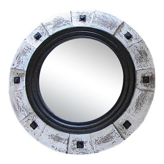 """31"""" Salvaged Architectural Element Round Mirror For Sale"""