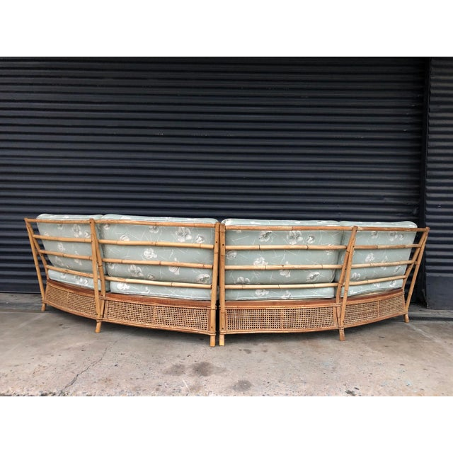 Vintage Ficks Reed Rattan Sectional Sofa Set For Sale - Image 9 of 13